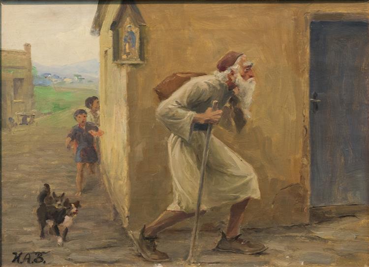 Den Vandrende Jøde (Den Evige Jøde), 1889 - Hans Andersen Brendekilde