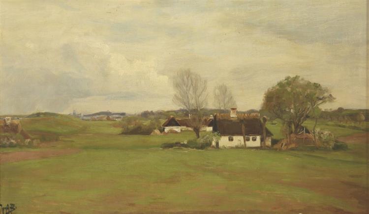 Landscape with Houses - Hans Andersen Brendekilde