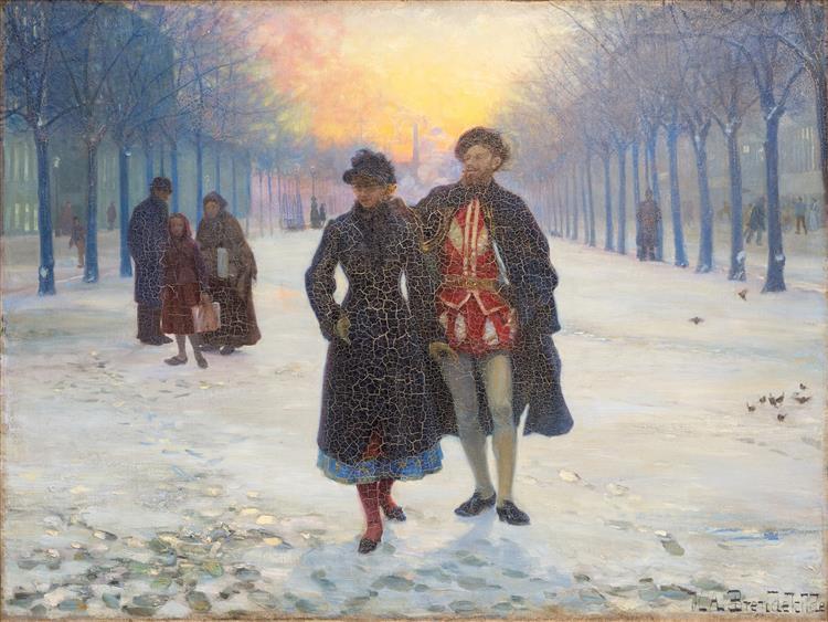 Morgen Efter Karneval, 1884 - Hans Andersen Brendekilde