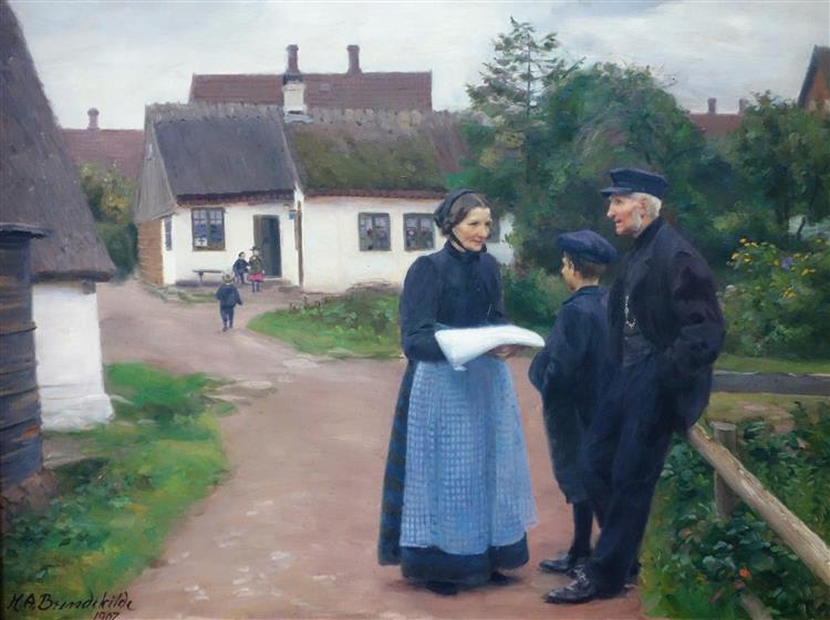 Lille Næstved. Familien Rasmussens Hus, 1907 - Hans Andersen Brendekilde