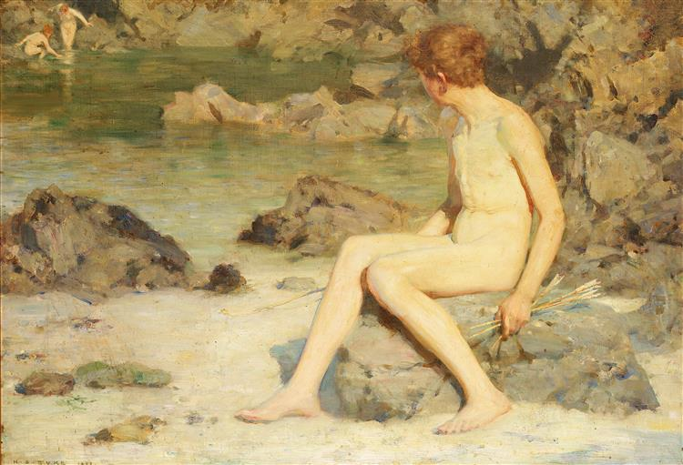 Cupid and Sea Nymphs, 1899 - Henry Scott Tuke