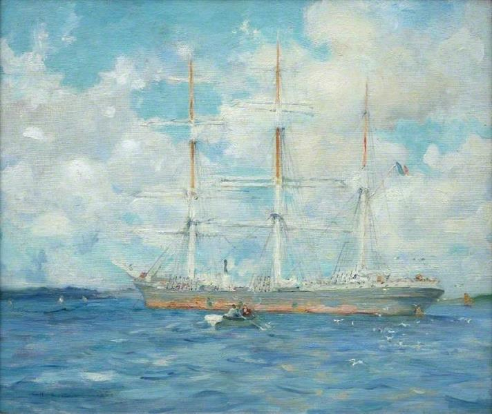 French Barque in Falmouth Bay, 1902 - Henry Scott Tuke