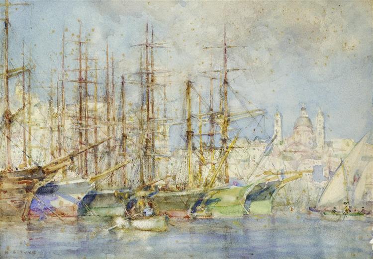 Genoese shipping - Henry Scott Tuke