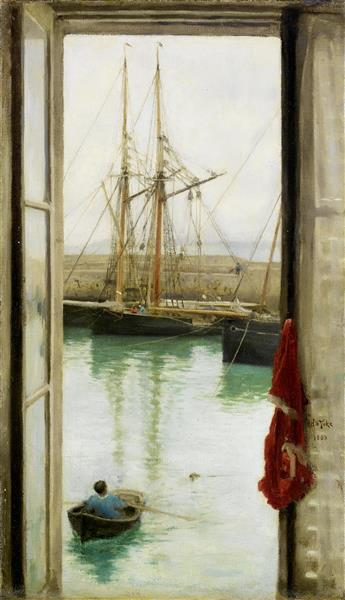 Sailing Ships and Maritime Scene (for More Information See Exif Data) - Henry Scott Tuke