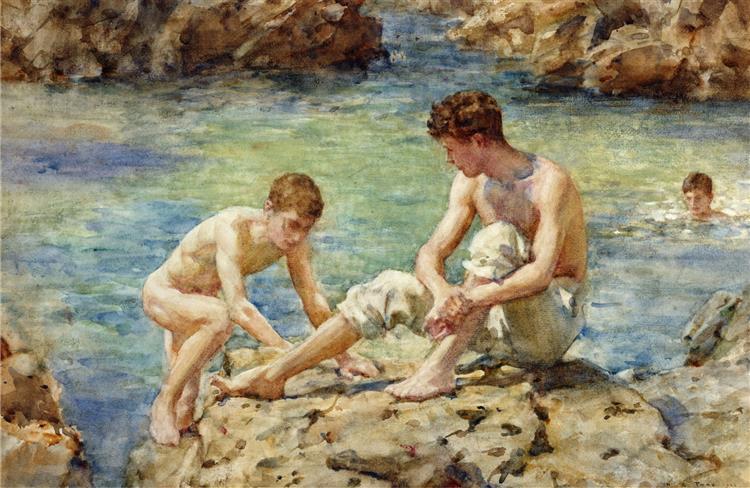 The Bathers, 1922 - Henry Scott Tuke