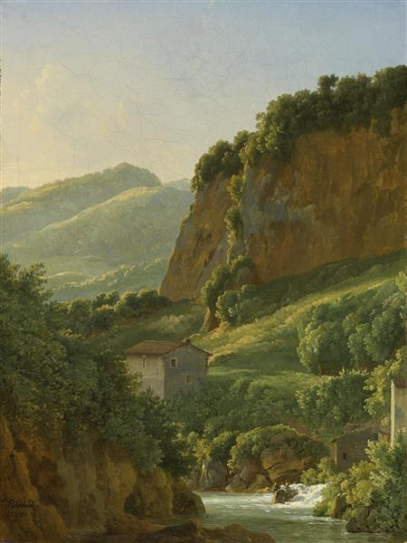 A View of the Monastery of San Cosimato, to the North of Rome - Jean-Joseph-Xavier Bidauld