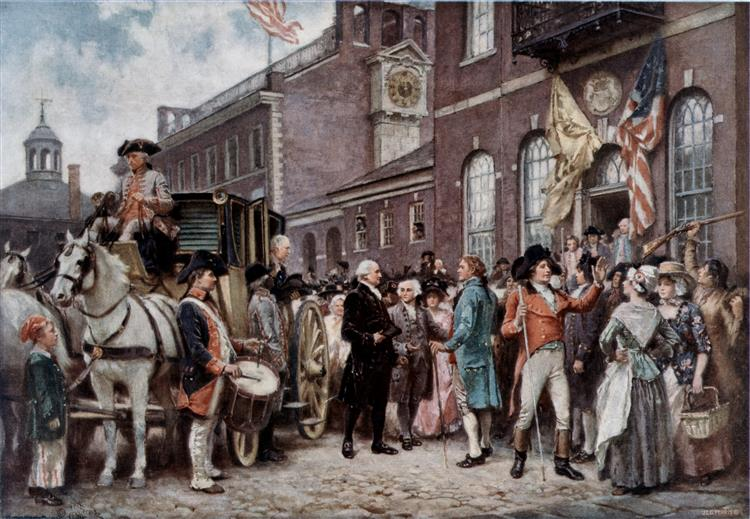 Washington's Inaugration at Philadelphia - Jean Leon Gerome Ferris