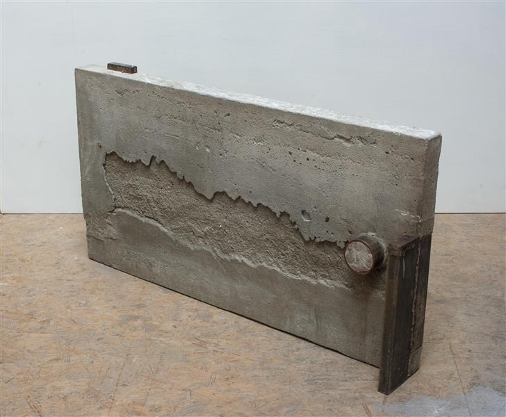 'Together' - abstract sculpture by Carlos Granger - art in concrete & steel, 2003 - Carlos Granger