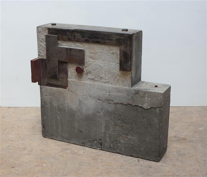 'Defined' - abstract sculpture by Carlos Granger - concrete & steel, 2008 - 2009 - Carlos Granger