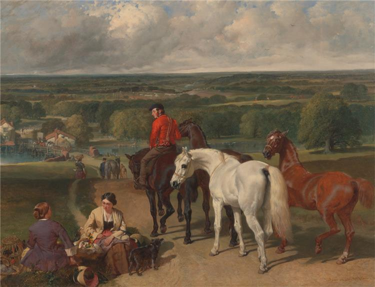 Exercising the Royal Horses, c.1847 - c.1855 - John Frederick Herring Sr.