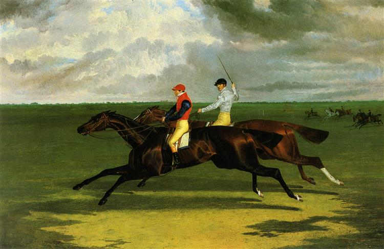 'Priam' Beating Lord Exeter's 'Augustus' at Newmarket, 1831 - John Frederick Herring Sr.