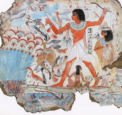 Hunt Between Papyri, Nebamun's Tomb, c.1550 - c.1295 BC - Ancient Egypt