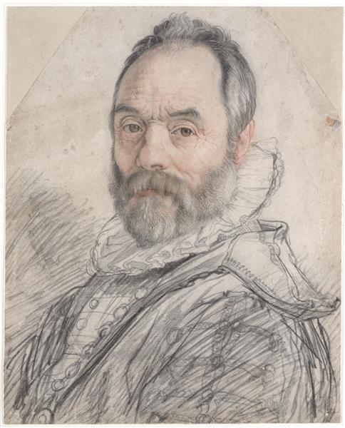 Portrait of the Sculptor Giambologna, 1591 - Hendrick Goltzius