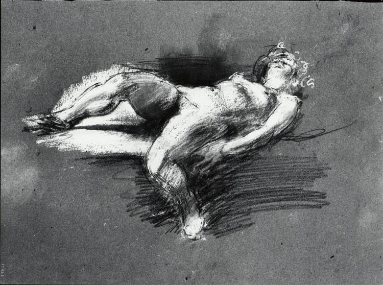 Nude Study (reclining Female Figure) - Henry Tonks