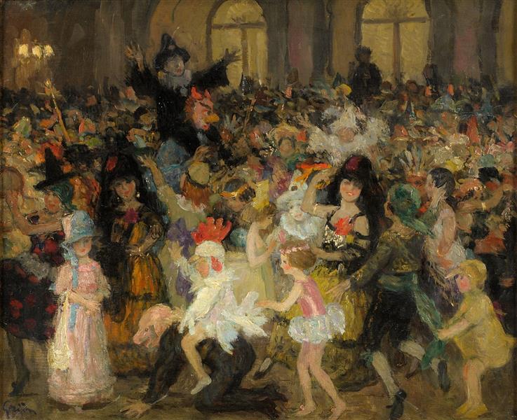 Masked Ball in Paris - Jules-Alexandre Grun