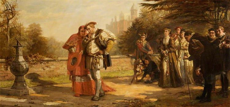 The Dismissal of Cardinal Wolsey, 1874 - Laslett John Pott