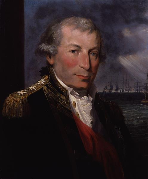 Portrait of John Jervis, Earl of St Vincent - Lemuel Francis Abbott