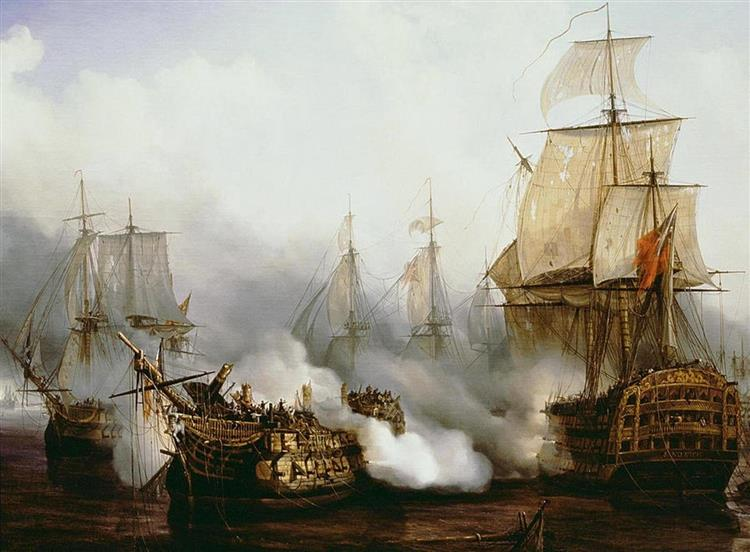 Battle of Trafalgar, 1805 - Louis-Philippe Crépin