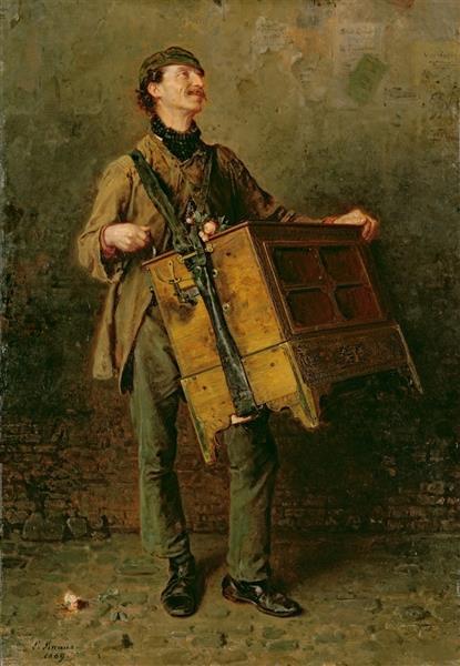 The Hurdy-gurdy Man, 1869 - Ludwig Knaus