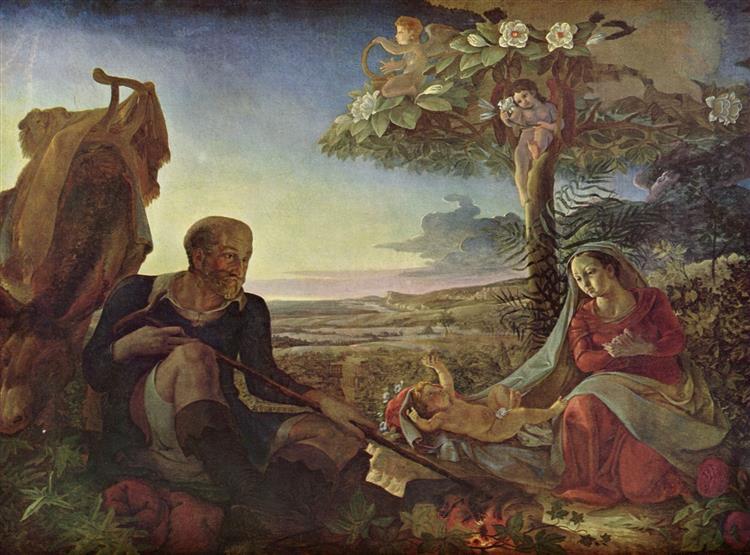 Ruhe Auf Der Flucht, 1806 - Philipp Otto Runge