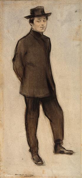Portrait of Isidre Nonell, 1899 - Ramon Casas