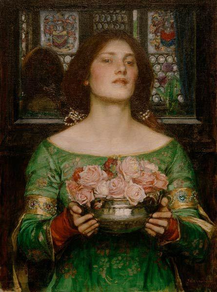 Gather Ye Rosebuds While Ye May (study), 1908 - John William Waterhouse