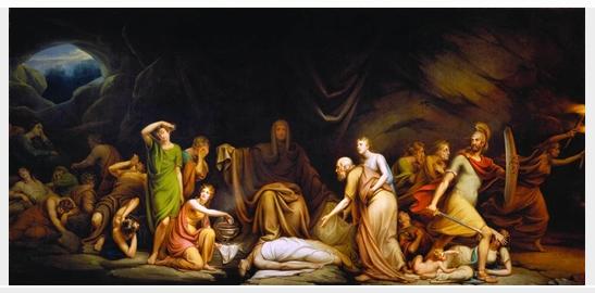 Court of Death, 1820 - Рембрандт Пил