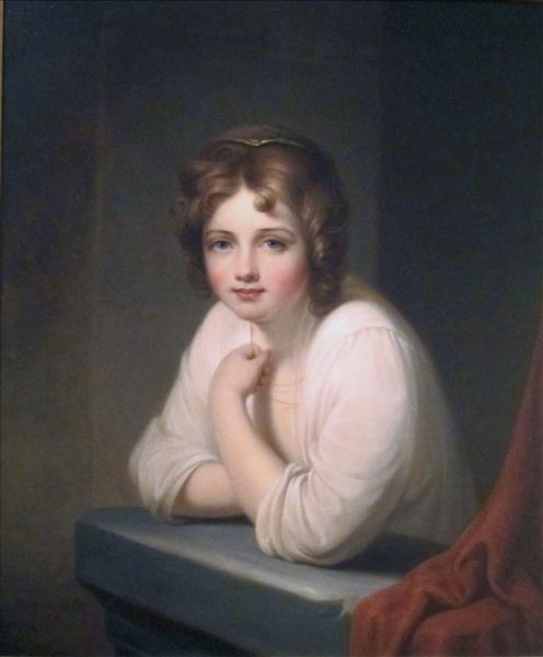 Girl at a Window (rosalba Peale) - Rembrandt Peale