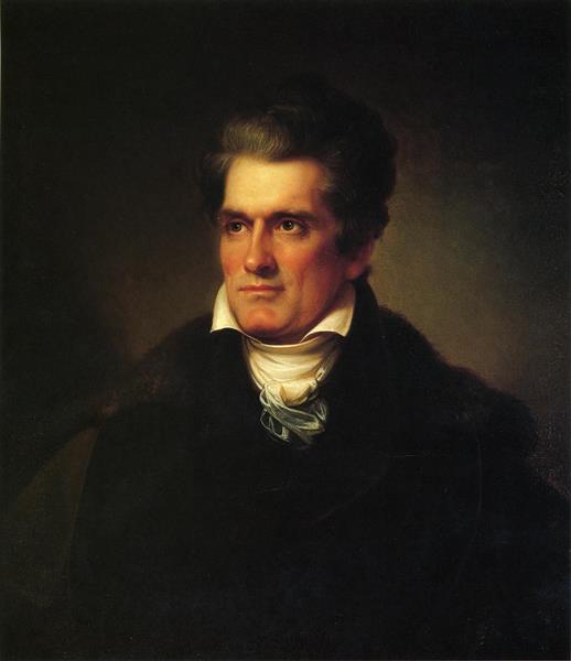 Portrait of John C. Calhoun - Rembrandt Peale