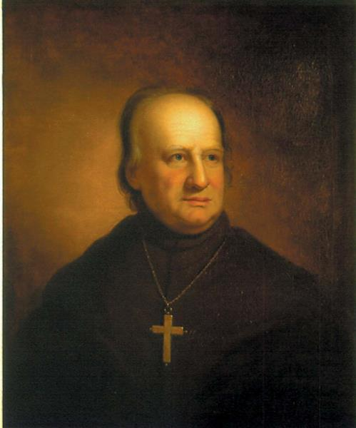 Portrait of America's First Bishop and Archbishop, John Carroll, 1811 - Rembrandt Peale