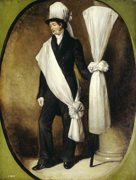 A Funeral Bearer, 1840 - Robert William Buss