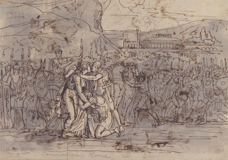 Soldiers Going into Battle - Vincenzo Camuccini