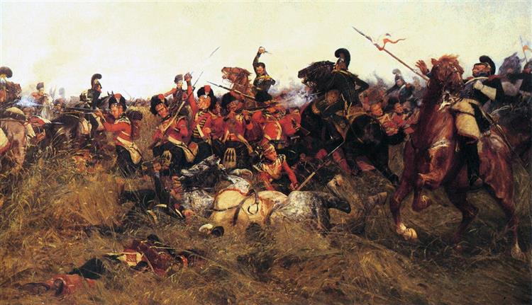 Black Watch at the Battle of Quatre-bras, 1815 - William Barnes Wollen
