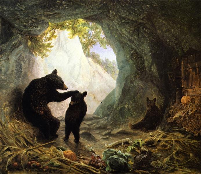 Bear and Cubs, 1864 - William Holbrook Beard