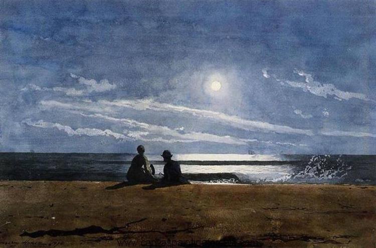 Moonlight - Winslow Homer