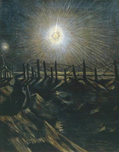 A Star Shell, 1916 - Christopher Nevinson