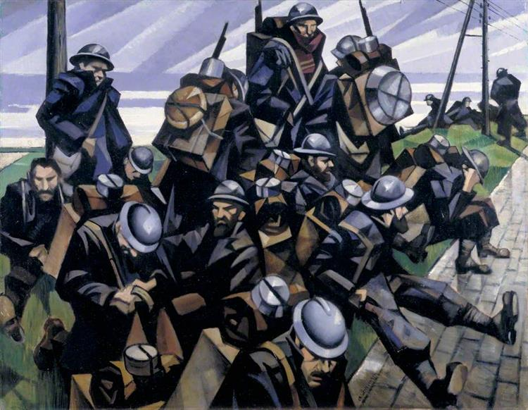 French Troops Resting, 1916 - C. R. W. Nevinson