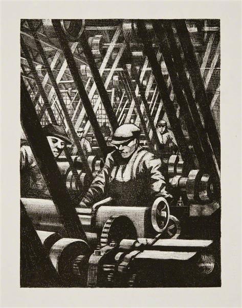 Making the Engine, 1917 - C. R. W. Nevinson