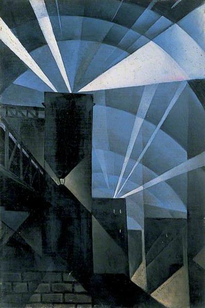 Searchlights, 1916 - C. R. W. Nevinson