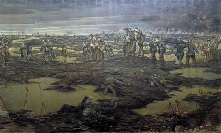The Harvest of Battle, 1919 - C. R. W. Nevinson