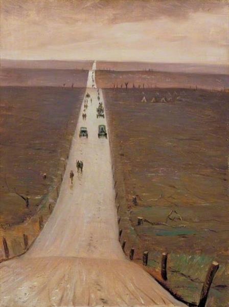The Road from Arras to Bapaume, 1917 - C. R. W. Nevinson