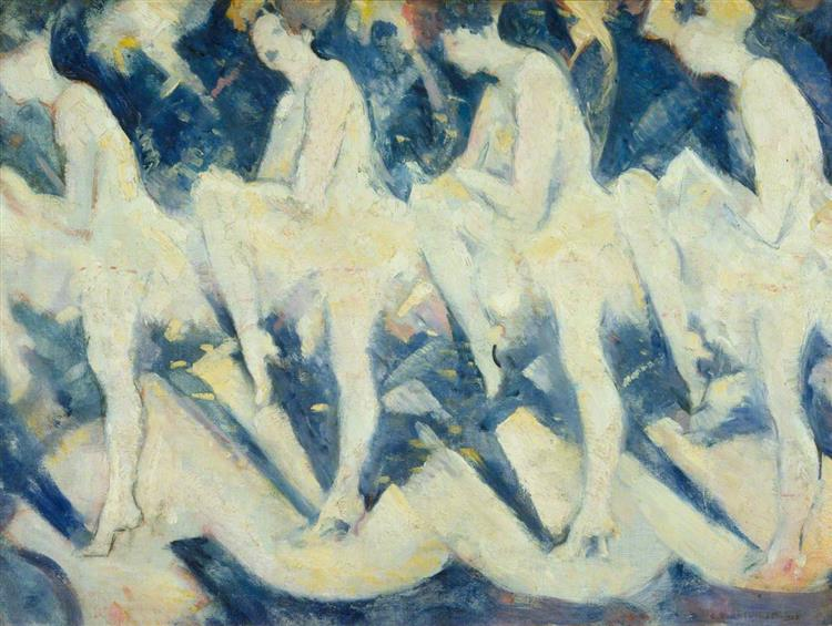 Tiller Girls, c.1926 - C. R. W. Nevinson