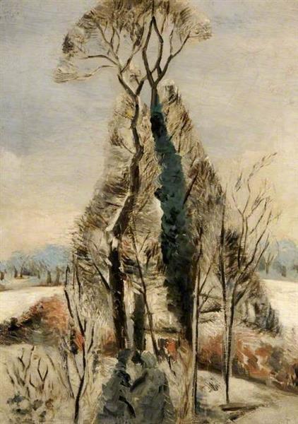 Iver Heath, Buckinghamshire, Snow, 1927 - Paul Nash