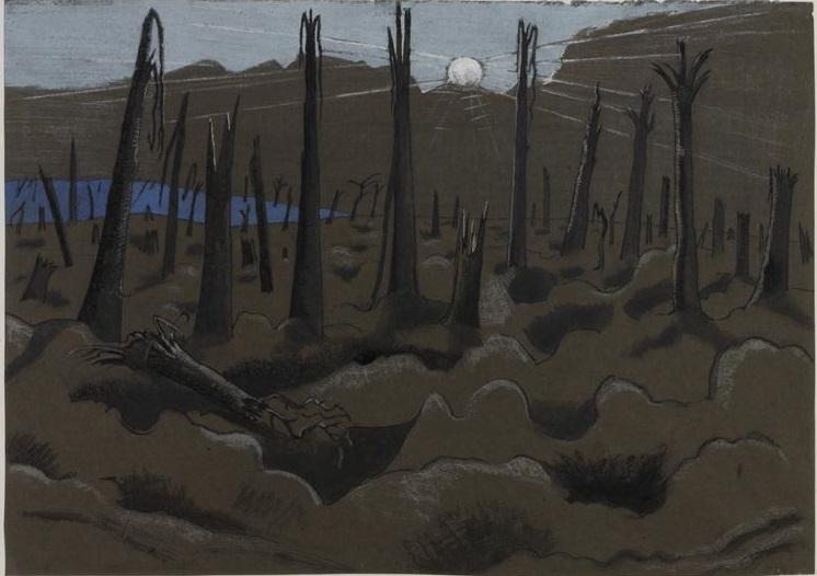 Sunrise, Inverness Copse, 1918 - Paul Nash