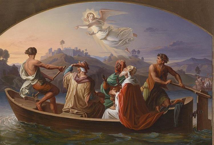 Three Kings on their Journey to Bethlehem, 1846 - Joseph Binder