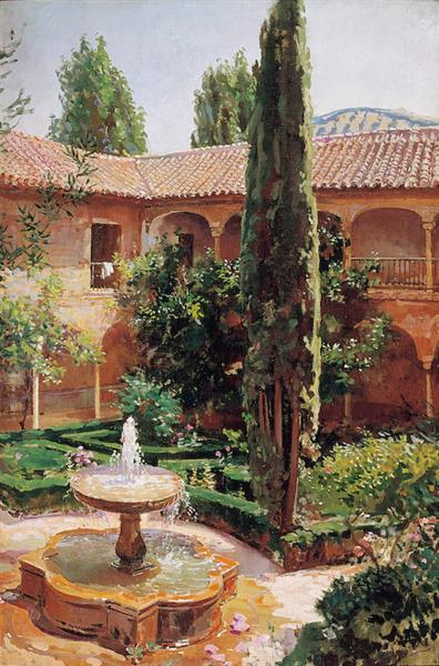 Patio De La Alhambra - José Santiago Garnelo y Alda