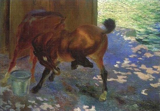 Horses Bitten by Flies - Paul-Albert Besnard