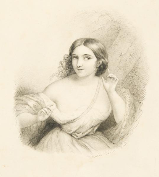 Dibujo. Alegoría De La Atención, 1842 - Rosario Weiss Zorrilla