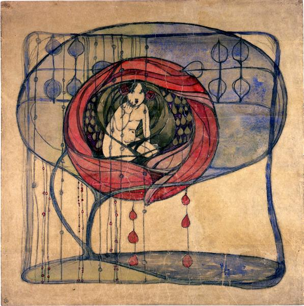 Girl in a Tree - Frances Macdonald