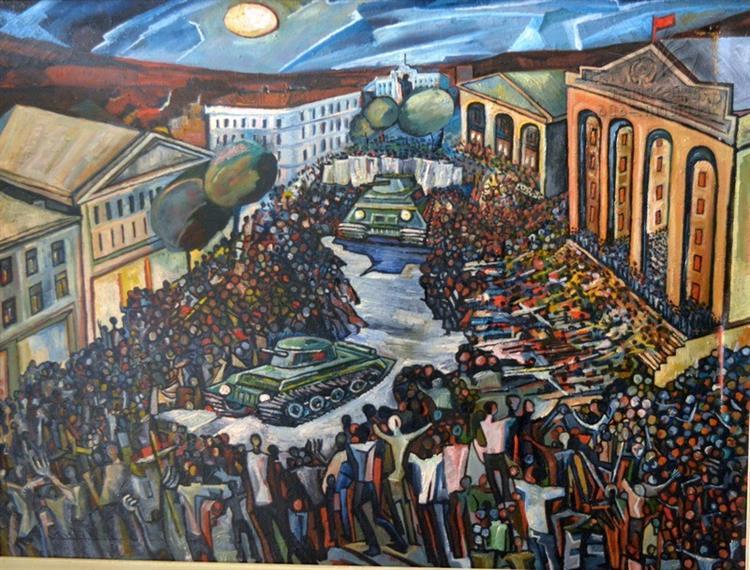 1989 W 9 Aprili Tbilisshi 1989 97X130 Tilo Zeti - Gogi Khutsishvili